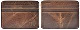 Кожаный картхолдер на 6 отделений коричневый, фото 4