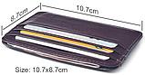 Кожаный картхолдер на 6 отделений коричневый, фото 3