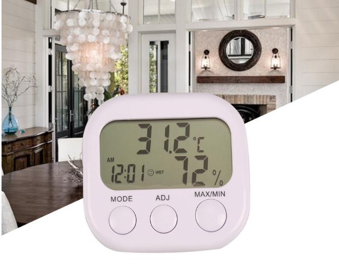 Гигрометр   влагомер термометр часы  КС-005 электронные настольные