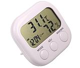 Гигрометр   влагомер термометр часы  КС-005 электронные настольные, фото 2