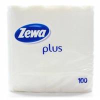 Салфетки столовые Zewa Plus белые 1-слойные 100 шт