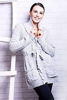 """Кофта женская на пуговицах с пояском, размер 46-54 Серии """" QUEEN """" купить оптом и в розницу в Одессе на 7км"""
