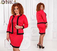 Комплект платье +жакет №с788/2  (ГЛ) Норма