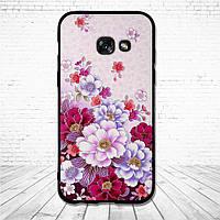 Силиконовый чехол для Samsung Galaxy A3 2017 A320 с картинкой нежные цветы