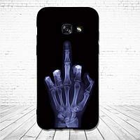 Силиконовый чехол для Samsung Galaxy A3 2017 A320 с картинкой скелет руки