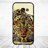 Силиконовый чехол для Samsung Galaxy A3 2017 A320 с картинкой леопард