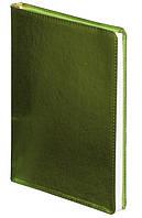 Ежедневник А5 датированный 2018 Buromax Metallic, салатовый (гибкая обложка, кремовый блок) BM.2143-15