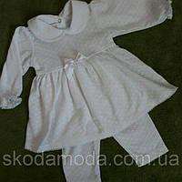Красивое ажурное платье с поясом для девочки  на рост 62 см