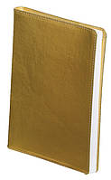 Ежедневник А5 датированный 2018 Buromax Metallic, золотой (гибкая обложка, кожа, кремовый блок) BM.2143-23