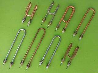19) ТЭНы водяные для дистилляторов (нержавейка, медь) на латунных штуцерах Ø14,16 и 18мм