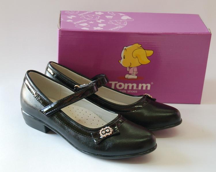 Туфли для девочки ТМ ТОМ.М чёрного цвета 35р