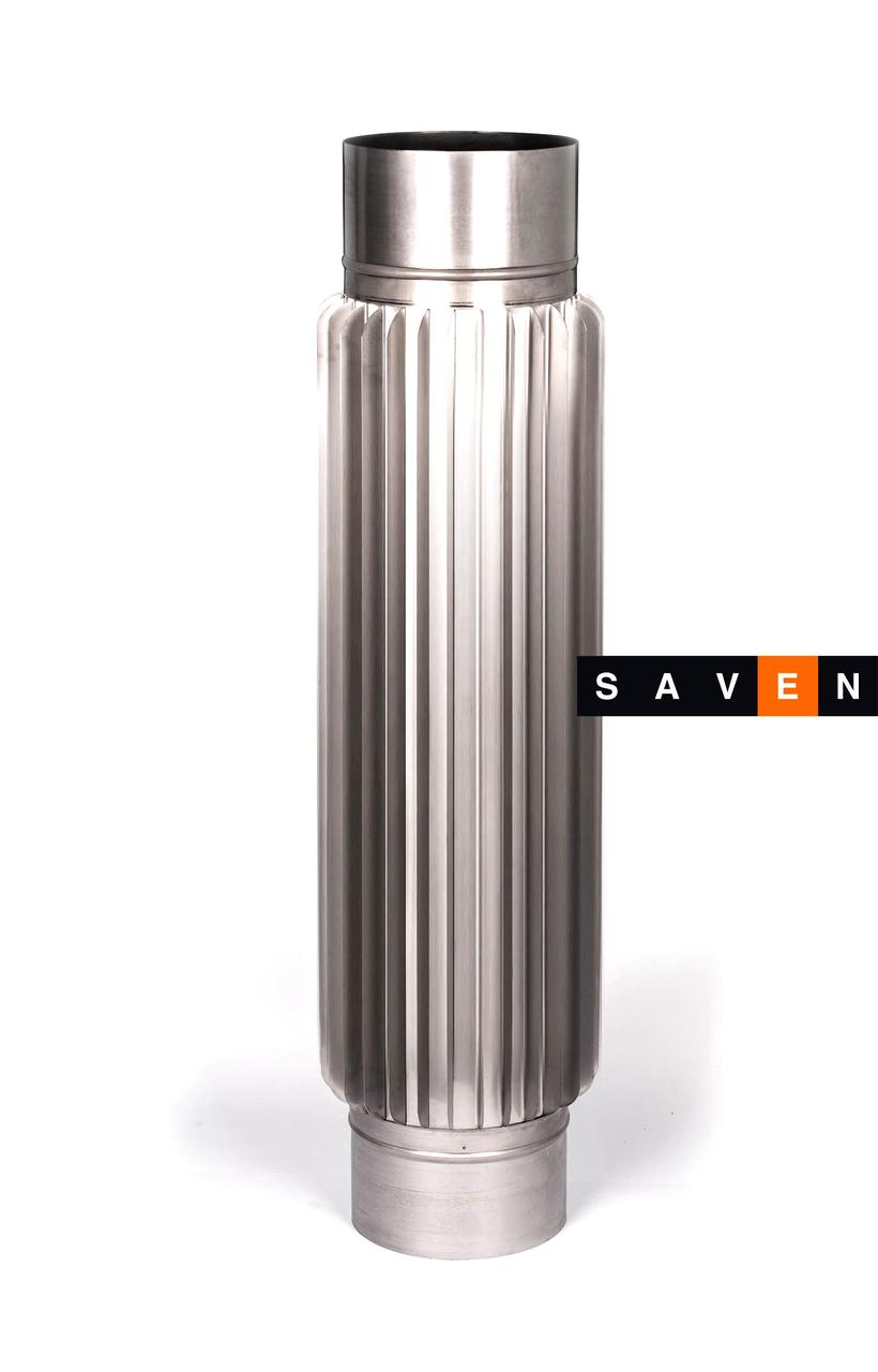 Радиатор для дымохода из нержавеющей стали L=0,5 м, 110, 0.8 мм, AISI 321