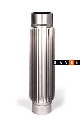 Радиатор для дымохода из нержавеющей стали L=1,0м, 150, 0.8 мм, AISI 321, фото 2
