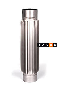 Радиатор для дымохода из нержавеющей стали L=0,5 м, 110, 0.8 мм, AISI 304