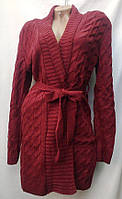 """Кардиган женский вязаный с поясом (6 цветов), размер 48-54 Серии """" QUEEN """" купить оптом в Одессе на 7км, фото 1"""