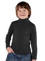 Детский черный гольф для мальчика, рр.122-158, ВОЛ (Cornett)