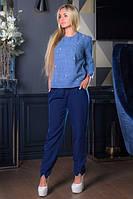 Блузка Бусинка БББ 0324 синий, фото 1