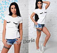 Женская летняя футболка с накаткой в расцветках t551727