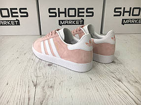 Женские кроссовки Adidas Gazelle Vapour Pink/White, фото 2