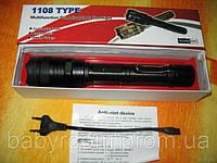 Электрошокер Титан 1108 (+мощный фонарик) черный и бронзовый