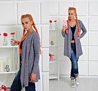 Женская кофта кардиган без застёжки в разных цветах