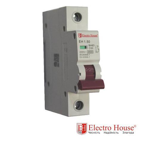 Автомат однополюсный 50A, 4,5kA Electro House, фото 2