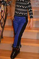 Теплые брюки на флисе для девочки