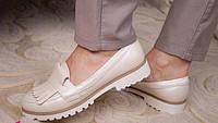 Женские кожаные классические туфли-лоферы разные цвета