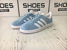 Женские кроссовки Adidas Gazelle Light Blue BB5481, Адидас Газели, фото 2
