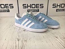 Женские кроссовки Adidas Gazelle Light Blue BB5481, Адидас Газели, фото 3