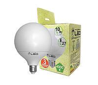 Светодиодная лампа Е27, 10W (Глобус), 4000К