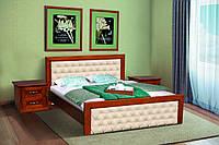 """Кровать из массива ольхи """"Фридом""""  (орех с патиной)"""