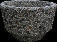 Вазон уличный «Фиеста» серый гранит