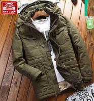 Мужская куртка парка Jeep В НАЛИЧИИ, Осень-Зима, хаки. Размер 48-52