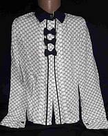 Шикарная школьная блузка Польша р. 140 ткань штапель