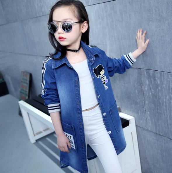 Модний джинсовий плащик для дівчинки   продажа c3d66916c4b9e