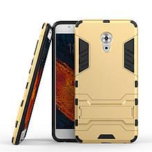 Чехол накладка силиконовый Armor Shield для Meizu Pro 6 Plus золотистый