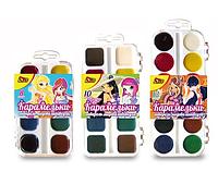 """Краска акварельна медова""""Карамельки"""", пластикова упаковка, OLLI,8 кольорів"""