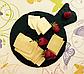 """Поднос, тарелка 20 см, """"Фугу"""" сланцевая посуда, фото 2"""