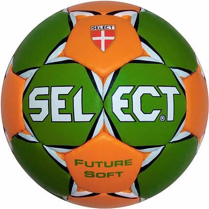 Мяч гандбольный Select Future Soft (зел/оранж), размер 1,5, 1, 0, 00, фото 2
