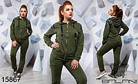 Трикотажный женский  спортивный костюм большого размера  48-54
