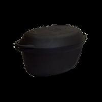 Чугунная утятница 9л с крышкой - сковородкой