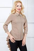 Женская эффектная блуза с удлиненной спинкой