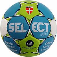 Мяч гандбольный Select Light Grippy (зел/голуб), размер 00