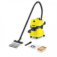 Пылесос для сухой уборки Karcher WD4 yellow