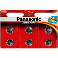 Батарейка Panasonic CR 2032 BLI 6 LITHIUM (CR-2032EL/6BW)