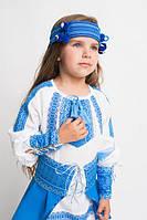 Вишитий костюм на дівчинку:плаття і юбка,повязка окремо.Р-ри 98-152