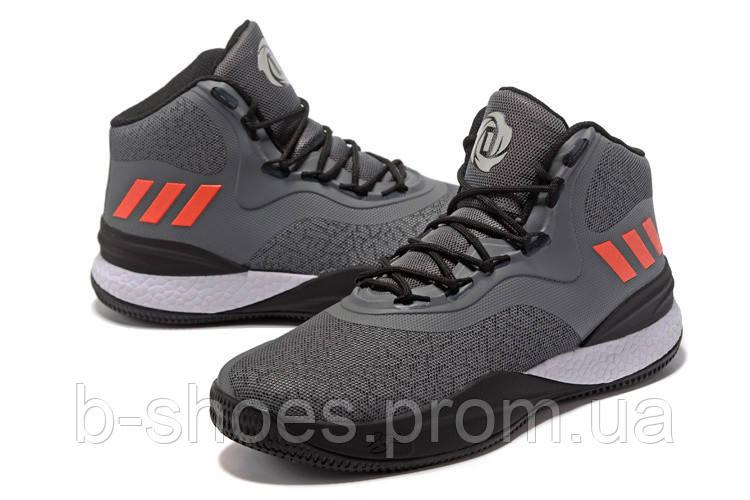 Мужские баскетбольные кроссовки Adidas D Rose 8 (Grey)