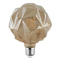 LED лампа Эдисона G125 Crystal 6w 2200K Filament
