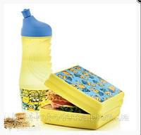 """Набор """"Миньоны"""": Ланч-бокс и спортивная бутылка 415 мл."""